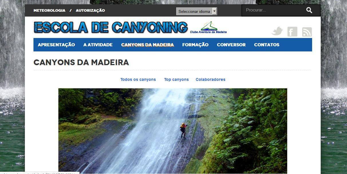 escola Canyoning CAMadeira